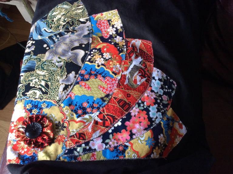 Tote bag using Japanese fabrics